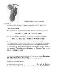 Einladung Wahl des Jahres-2001 - Rudolf X. Ruter