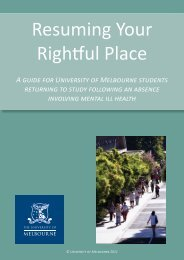 Resuming Your Rightful Place - Student Services - University of ...