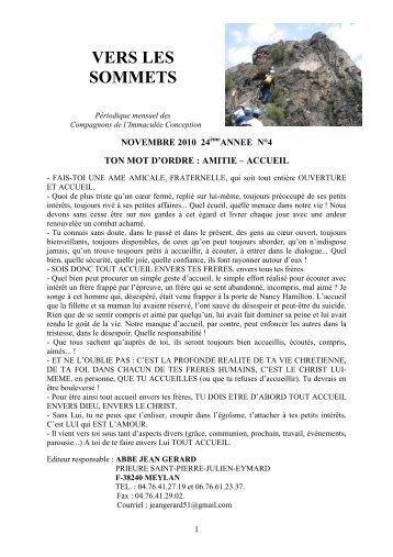 Vers les sommets de novembre 2010 - Ton mot d ... - La Porte Latine