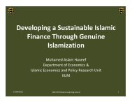 Developing a Sustainable Islamic Finance Through Genuine ...