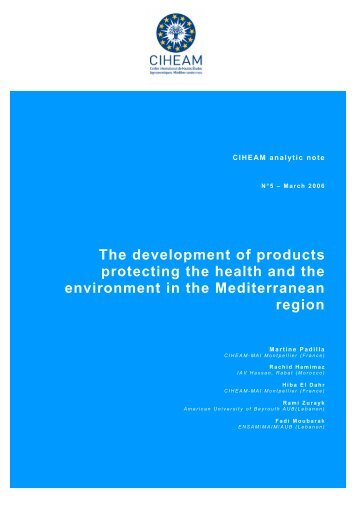 The development of products protecting the health ... - Mot de passe…