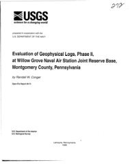REPORT:USGS:Evaluation of Geophysical Logs, Phase II