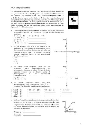 9.6.8. Komplexe Zahlen - Poenitz-Net