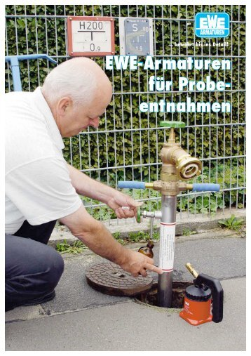 EWE-Armaturen für Probe- entnahmen