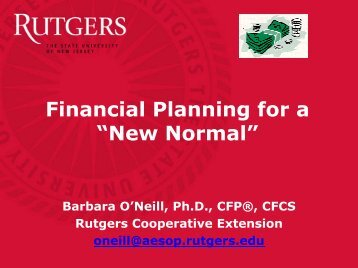 "Financial Planning for a ""New Normal"""