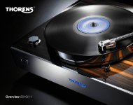 Overview 2010/11 - Thorens