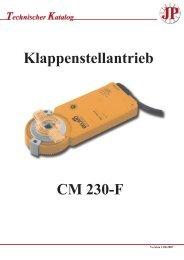 Klappenstellantrieb CM 230-F - Pichler