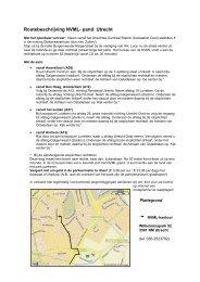 Routebeschrijving NVML- pand Utrecht