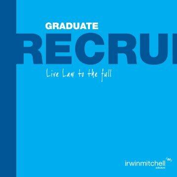 Download brochure - Irwin Mitchell Graduate Recruitment