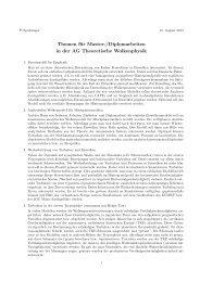 Themen für Master-/Diplomarbeiten in der AG ... - Staff.uni-mainz.de