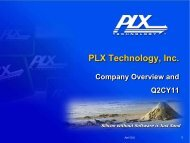 PCI Express - PLX Technology