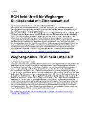 BGH hebt Urteil auf - Werner Sellmer