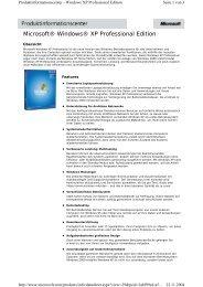 Microsoft® Windows® XP Professional Edition