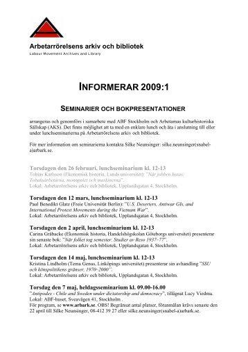 ARAB informerar 2009:1