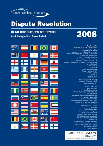 Dispute Resolution 2008 edition of Getting the Deal Through - BBH