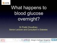 What happens to blood glucose overnight - Dr Pratik ... - Dafne