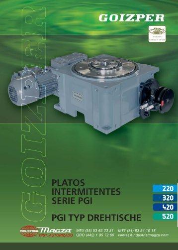 Platos Intermitentes Serie PGI: 220, 320, 420, 520