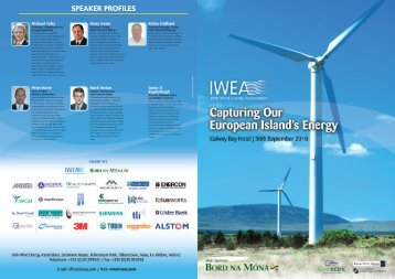 SPEAKER PROFILES - Irish Wind Energy Association
