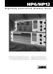 HP6 & HP12 Technical Manual - Jands