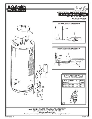 ao smith electric water heater wiring diagram