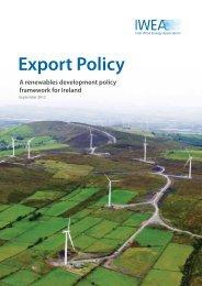 Export Policy - Irish Wind Energy Association