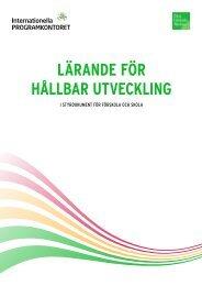 LÄRANDE FÖR HÅLLBAR UTVECKLING - Internationella ...