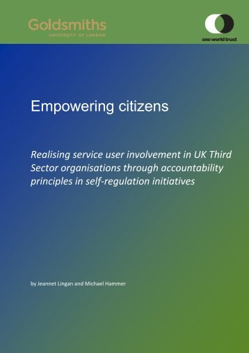 Empowering citizens - Realisation of User ... - One World Trust