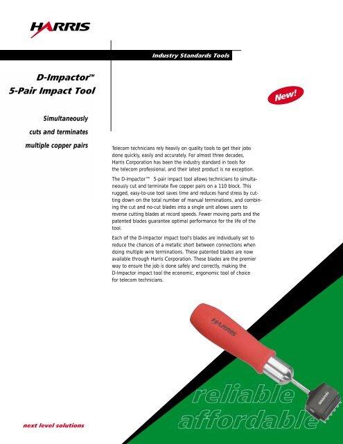 D-ImpactorTM 5-Pair Impact Tool - Fluke testery