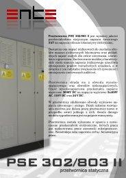 Przetwornica PSE 302/803 II jest wysokiej jakości ... - Ente