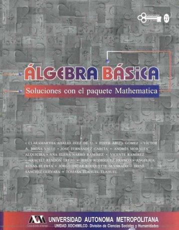 algebra basica. soluciones con el paquete mathematica