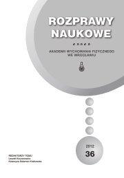 Rozprawy Naukowe 36 - Akademia Wychowania Fizycznego we ...