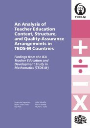 An Analysis of Teacher Education Context, Structure, and ... - IEA