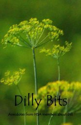 Dilly Bits - The Herb Society of America