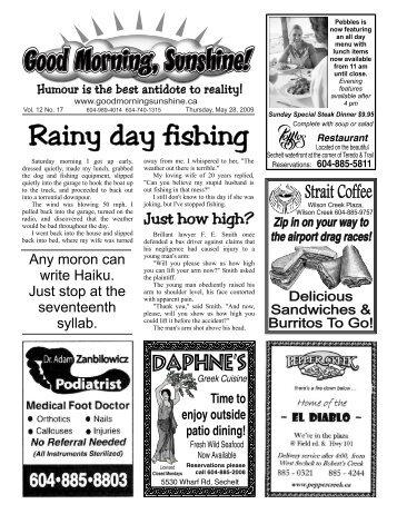 Rainy day fishing - Good Morning Sunshine.ca