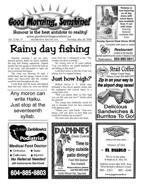 Rainy day fishing - Good Morning Sunshine ca