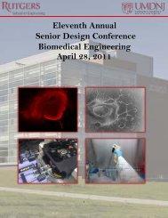 Senior Design Conference Book - Biomedical Engineering