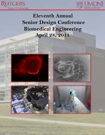 Senior Design Conference Book - Biomedical Engineering