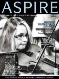 NatioNal Youth StRiNGS aCaDEMY - Aspire Magazine