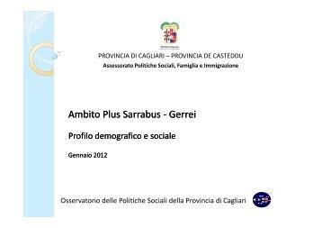 Profilo d'ambito Plus Sarrabus Gerrei 2012 - Sociale - Provincia di ...