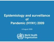 Epidemiology and surveillance of Pandemic (H1N1) 2009