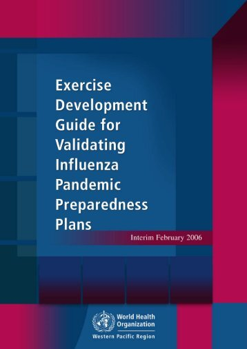 Exercise Development Guide for Validating Influenza Pandemic