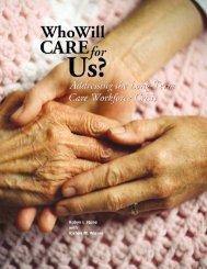 Addressing the Long-Term Care Workforce Crisis - PHI
