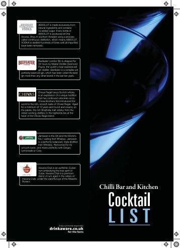 Personalised PDF - Chilli Bar & Kitchen