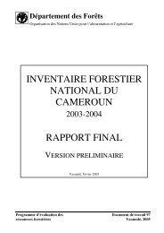 inventaire forestier national du cameroun rapport final - Impact ...