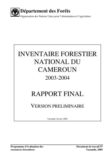 inventaire forestier national du cameroun rapport final - Impact ...