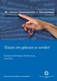 policy plan DIGD 2010-2015 - UMC Utrecht