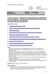 Klage på avslag - Søknad om dispensasjon for oppføring av to ...