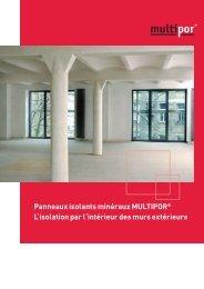 Panneaux isolants minéraux MULTIPOR® L'isolation par l'intérieur ...