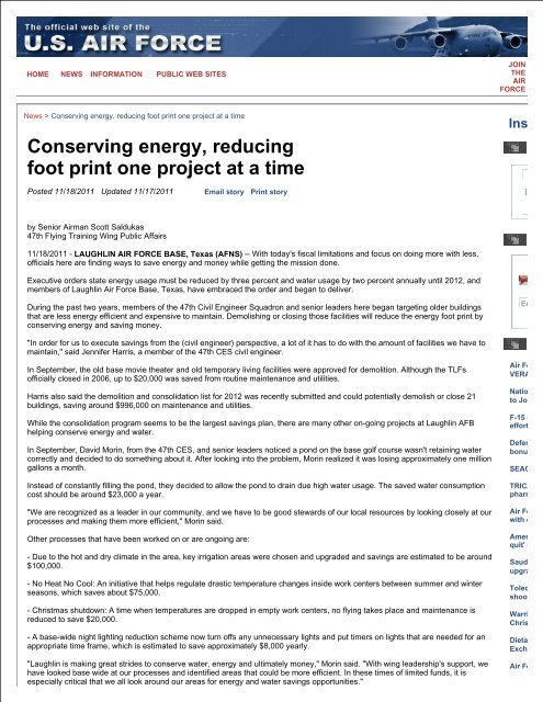 Conserving energy, reducing foot print one project at a time