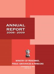 Annual Report 2008-2009 in English - Ministry of Personnel, Public ...